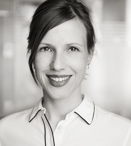 The picture portrays Claudia Huber who work for the Alfred Herrhausen Gesellschaft and is a member of the New Urban Progress Steering Committee.